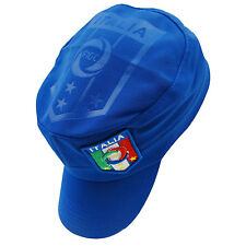 ITALIA ITALY BLUE FIGC LOGO FIFA WORLD CUP MILITARY STYLE HAT CAP..NEW