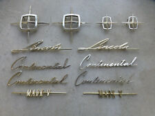 1958 1959 1960 Lincoln Continental Mark V Gold Emblem Script Badges Nameplates