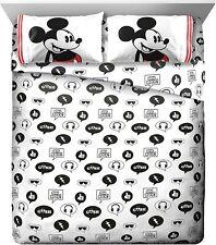 Disney Mickey Mouse Jersey Full Sheet Set - 4 Piece Set Super Soft Kid's Bedding