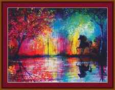 Rainbow Lake BELLISSIMO cavallo Punto Croce Kit