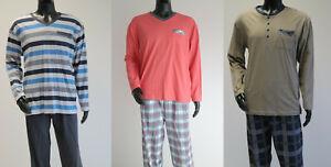 Larog Herren Schlafanzug Pyjama Set aus Oberteil und Hose in vielen Farben