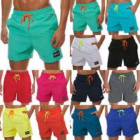 Men Swimwear Sports Gym Run Board Shorts Swim Trunks Casual Summer Beach Pants