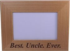 Best Uncle Ever - 4x6 Inch Wood Picture Frame - Great Gift for Birthday, or Chri