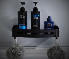 Hot Black Aluminium Hanging Holder Bath Shower Corner Storage Shelf Rack Basket