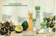 Publicité Advertising 1981 Cosmetique lait et Lotion Yves Rocher