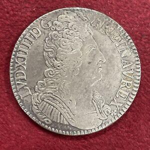 ECU AUX TROIS COURONNES LOUIS XIIII REFORMATION 1709 X N° 55