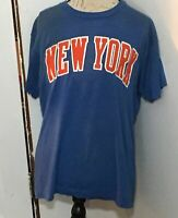 MLB New York Mets Darryl Strawberry #18 Screen Stars Blue Large Sized Shirt