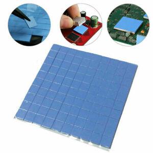 25PC 10x10x1mm GPU CPU Heatsink Cooling Thermal Conductive Blue Silicone Pads UK