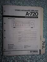 Yamaha a-720 service manual original repair book stereo amp amplifier