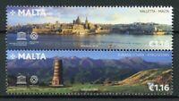 Malta 2018 MNH UNESCO World Heritage JIS Kyrgyzstan 2v Set Architecture Stamps