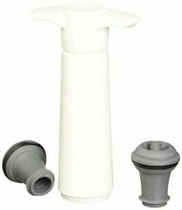 The Original Vacu Vin Wine Saver with 2 Vacuum Stoppers ? White