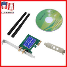 300Mbps Wireless WiFi PCI-E Network Adapter LAN Card+ Antennas for Desktop