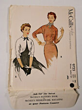 Mc-9723 1950's Jacket Sewing Pattern McCall's Bust 32 Partially Cut & Complete