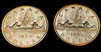 1960 Uncirculated $1.00 Canada Silver Dollar .800 Silver • Proof Like