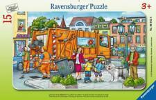 Ravensburger 06162 Puzzle Unterwegs mit der Müllabfuhr 15 teile