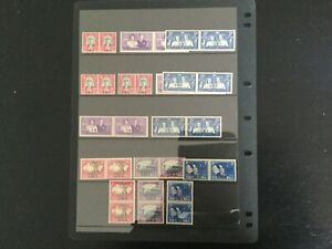 SWA lot of 59 stamps lhm mostly bilingual pairs (W51)