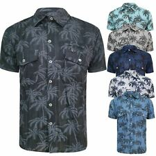 Mens Short Sleeve Palm Tree Hawaii Shirts Summer Beach Floral T Shirt Beach Top