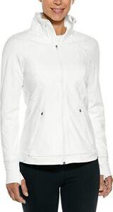 Women's Coolibar Interval White Jacket UPF 50+ SIZE S