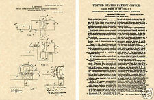 Lee DeForest 1907 VACUUM TUBE Patent Art Print READY TO FRAME!!!! AMP transister