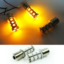 2x Amber High Power 18 SMD LED 1156 7506 P21W For NISSAN Front Turn Signal Light