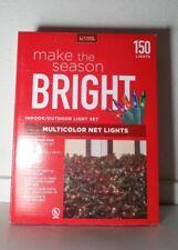 150 Multicolor Net Lights Indoor Outdoor Green Wire 5 Colors