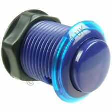 Blue Arcade Button With Translucent Rim -Built In Microswitch 2.8mm terminal