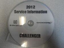2012 DODGE CHALLENGER Service Shop Repair Manual CD DVD DEALERSHIP BRAND NEW OEM