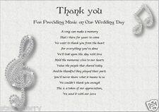 Thank You- WEDDING DJ / MUSICIAN  (personalised gift)