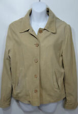 The Territory Ahead Womens Large Beige Tan Suede Lined Jacket