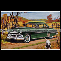 #pha.000754 Photo CHEVROLET STYLELINE LUXE SPORT 1952 ARTISTIC PICTURE Auto Car