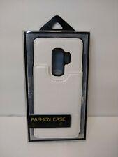 Samsung Galaxy S9+ S9 Plus Leather Kickstand Magnet Wallet Case - White