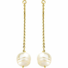 Freshwater Cultured Pearl Earring Jackets In 14K Yellow Gold