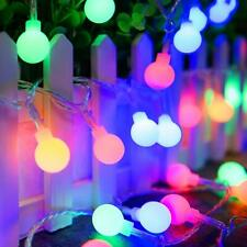 Colored Led Globe String Lights - Battery Operated USB 2 in 1 Christmas Fairy Li