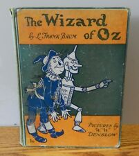 """1903? Vintage copy of """"The wizard of OZ"""" written by Baum green Hardcover book"""