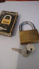 1 x YALE 60 MM BRASS PADLOCK    HARDENED  /STEEL SHACKLE- FREE POSTAGE