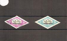 Rumania 1964 SG3179/3187 2v NH/CTO Perf/IMPERF Remo-Juegos Olímpicos de Tokio 1964