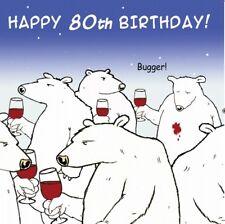 Funny Birthday Card -80th Birthday Card -Age 80 Card -Humour Card -Funny Card