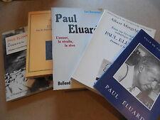 PAUL ELUARD LUC DECAUNES bibliothèque Trutat avec envoi