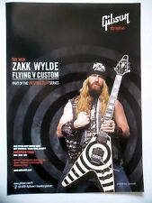 PUBLICITE-ADVERTISING :  Guitare GIBSON Flying V Custom  07-08/2007 Zakk Wylde