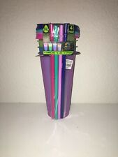 TAL Color Changing Tumblers Set, 24oz, 4 Pack Cups/Lids/Straws