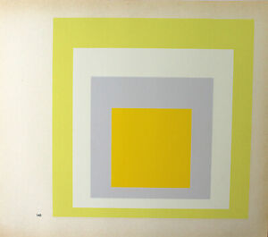 JOSEF ALBERS - Hommage to Square II. Unsignierter Farbsiebdruck (1968).