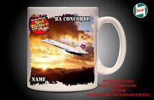 Personalised BA CONCORDE SUPERSONIC PLANE Mug Cup Dad Custom Gift - Add Name
