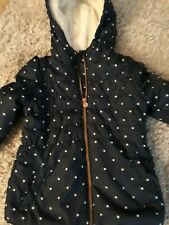 Girls Navy winter coat age 2-3  years