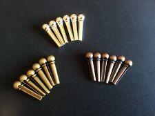 Solido in metallo Bridge Pins (Set di 6) antico, Rame e Argento Chitarra Acustica