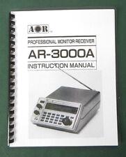 AOR AR-3000A Operating Manual - Premium Card Stock Covers & 28lb Paper!
