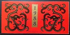 China 1988 Year of the Dragon booklet 戊辰龙年 第一轮生肖龙票小本邮票 (SB15)