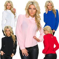 Damen-Blusen Damenblusen, - tops & -shirts mit klassischem Kragen ohne Muster
