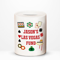 Personalised Las Vegas Fund Holiday Vacation Savings Money Box Gift Idea