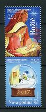 Bosnia & Herzegovina 2016 MNH Christmas & New Year 2v Set Nativity Stamps