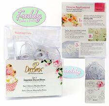 kit 7 imprimi decori fiore rosa decora painting cake design pasta di zucchero